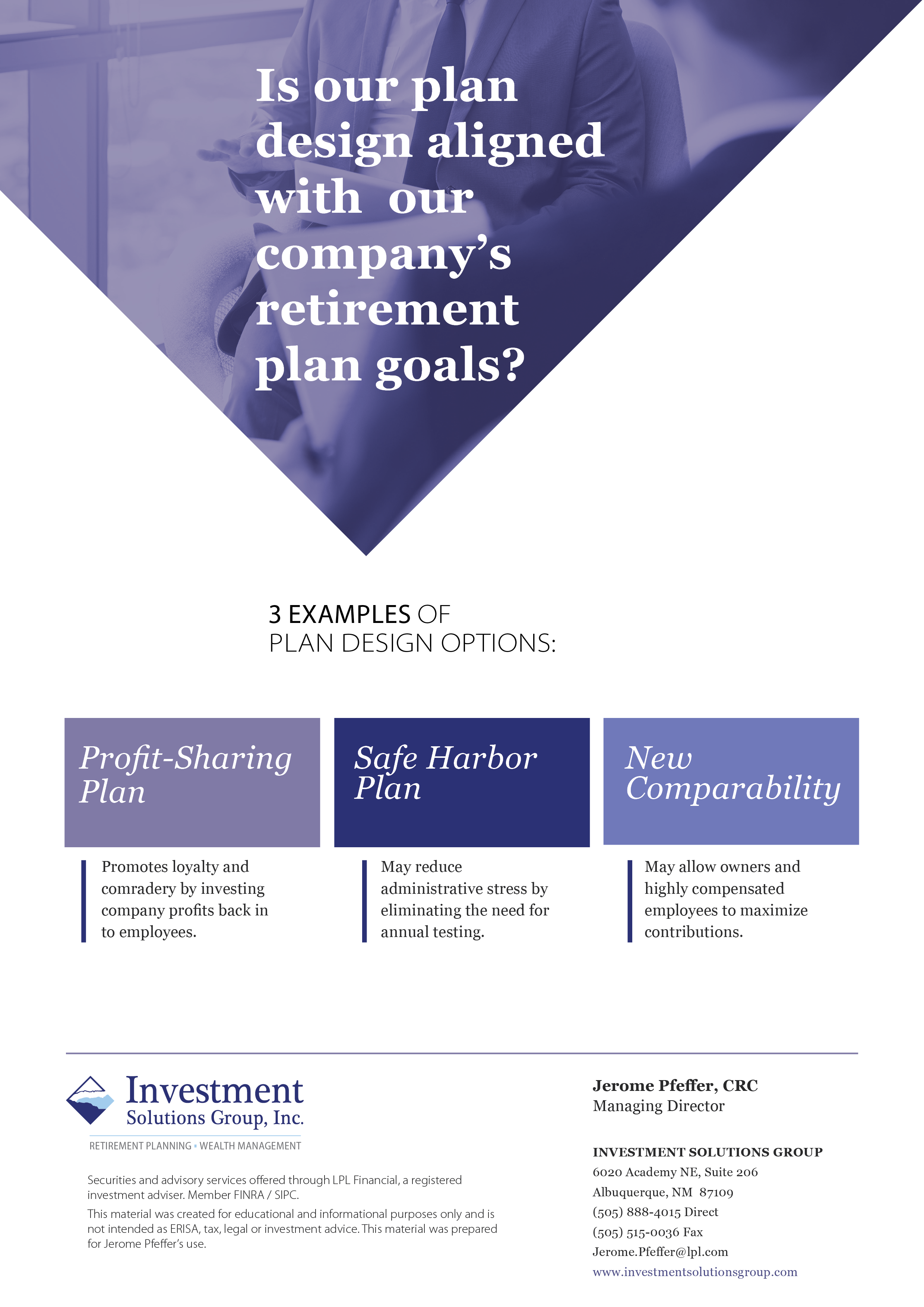 Investment policy statements for 401k plans - Aligning Company Goals With Effective Plan Design
