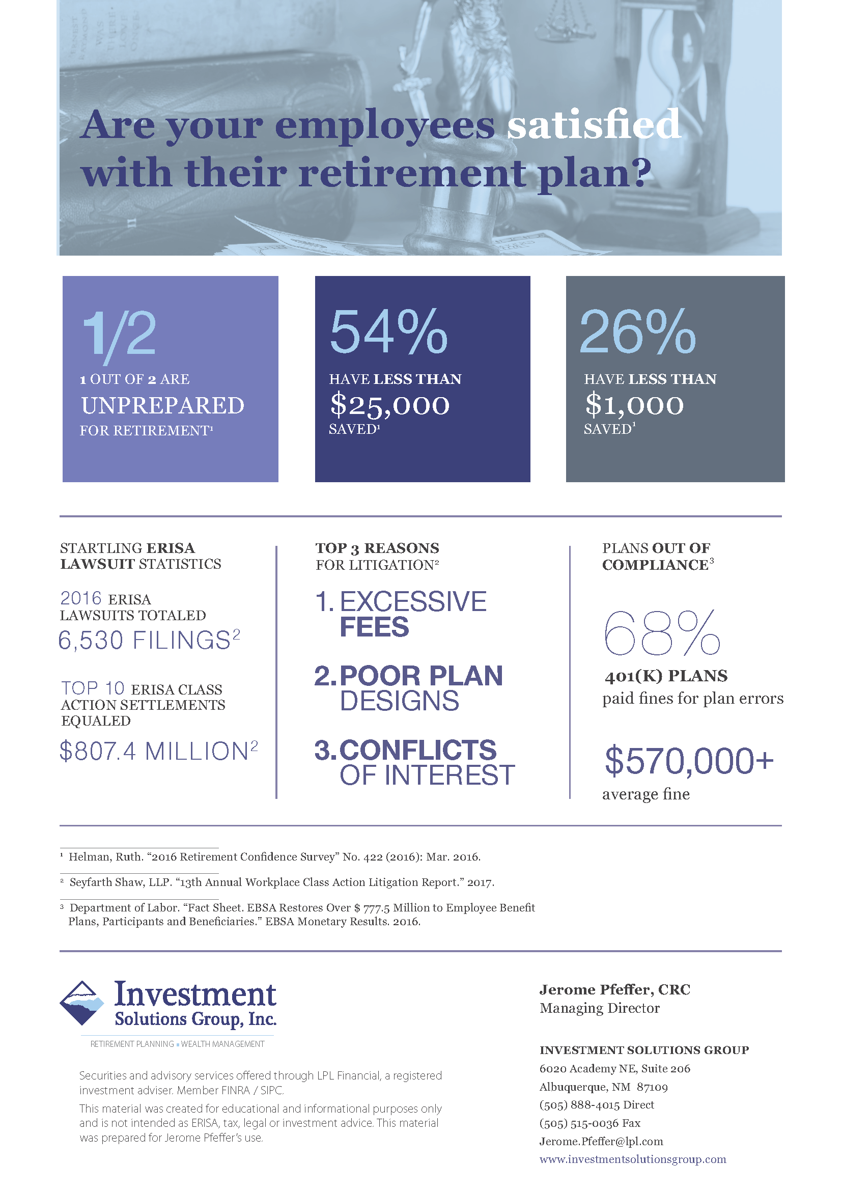Investment policy statements for 401k plans - Are Your Employees Satisfied With Their 401k Plan